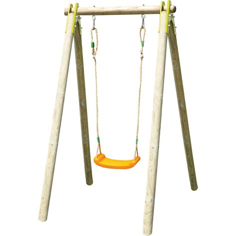 swing image garden kids swing natura wooden swing set adjustable seat