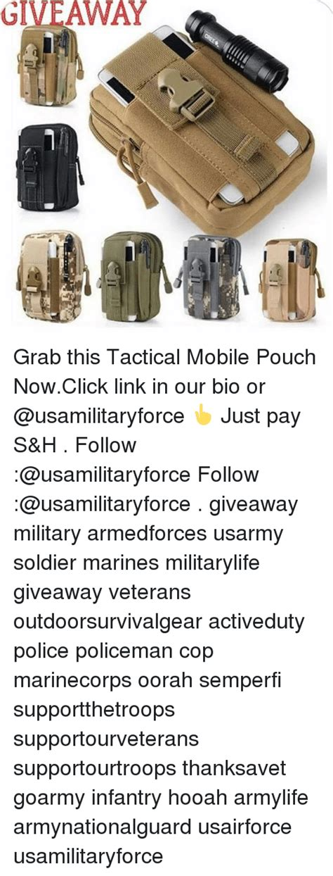 Tactical Giveaway - giveaway grab this tactical mobile pouch nowclick link in
