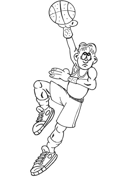 free coloring pages of basketball player