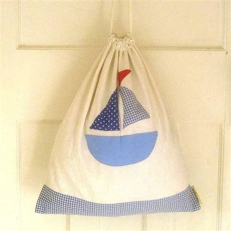 Nautical Linen Laundry Storage Bag By The Fairground Nautical Laundry