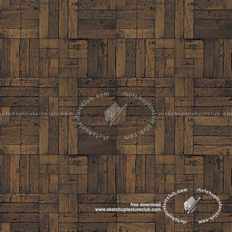 Old dark wood flooring square texture seamless 20301
