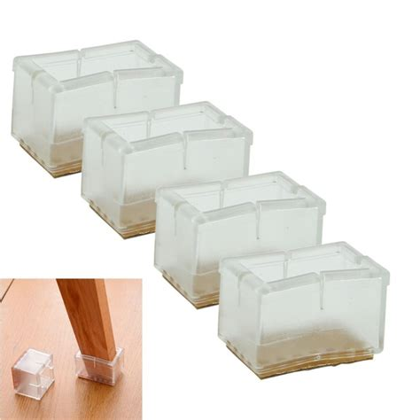 Chair Leg Caps by 1 Set 4 Pcs New Square Chair Leg Caps Rubber