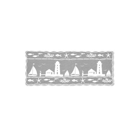 heritage lace harbor lights 14x36 table runner white