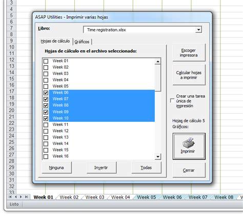 imagenes en varias hojas asap utilities for excel hojas 187 imprimir varias hojas