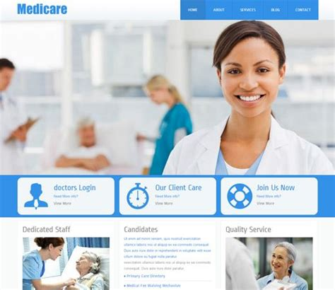 templates for website hospital medicare free responsive html5 css3 mobileweb template
