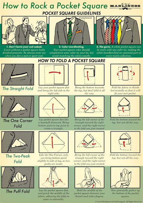 how to a guide how to fold a pocket square the of manliness