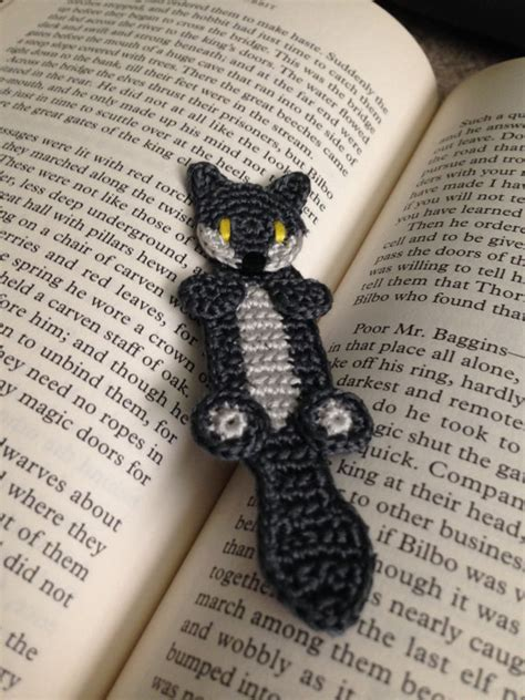 wolf or fox bookmark crochet pattern from callistocraft on etsy studio