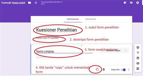 cara membuat index dengan html cara membuat kuesioner online dengan google formulir