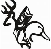 Browning Buck Drake Duck And Bass Fish Vinyl Decal