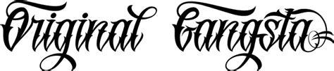 gang tattoo generator originalgangsta font