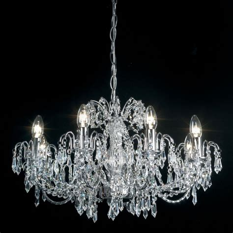 endon 96558 ch rumba chandelier endon 8 light