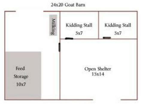 Goat Barn Floor Plans | goat barn floorplan from usa goatvet farm animals