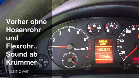 Auspuff Audi A4 B5 by Audi A4 B5 1 8 20v Ohne Auspuff Mit Auspuff