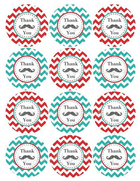 printable mustache gift tags party favor tags mustache thank you bumpandbeyonddesigns