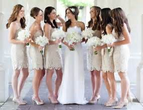 short lace bridesmaid strapless dress complementing the