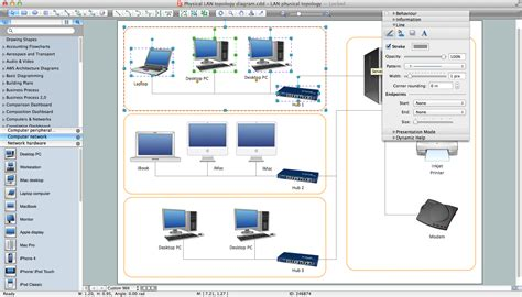 layout design mac os x local area network lan computer and network exles