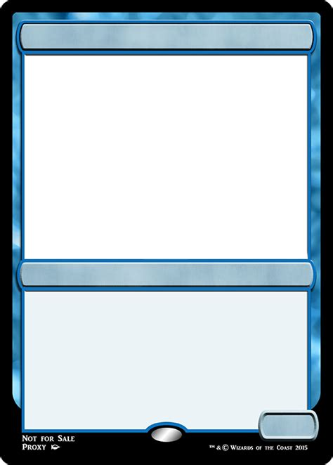 Magic Card Templates by Mtg M15 Blue Creature Frame Magic The Gathering Proxies