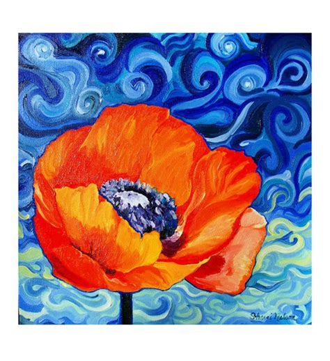 items similar to impressionist poppy home decor wall