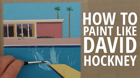 how to a like the how to paint like david hockney with circle line canvas