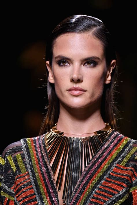 Alessandra Ambrosio by Alessandra Ambrosio At Balmain Fashion Show At