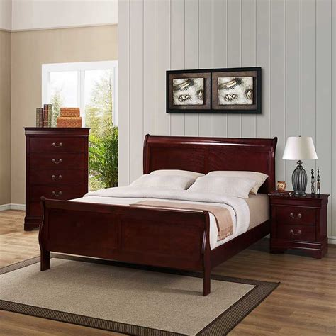 Cherry Bedroom Set The Furniture Shack Discount Living Room Bedroom Furniture