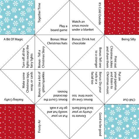 printable christmas fortune teller frosty finale 2014 the wrap up post jennifer grace