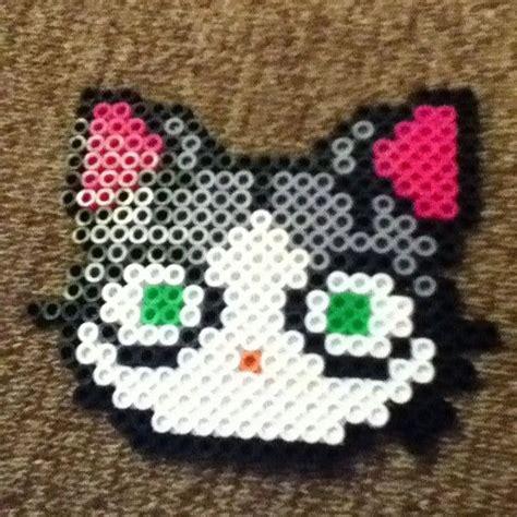 perler bead cat cat perler by perlercentral hama