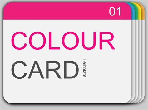 presentation cards templates power point templates 16 colour card