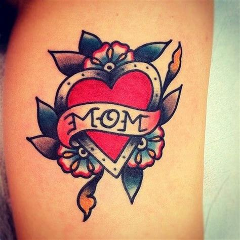 old school tattoo words i love old school mom tattoos already have one for her