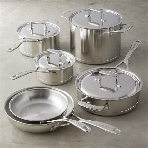 Kitchenaid 10 Cookware Set by Kitchenaid Tri Ply Stainless Steel With Copper 10