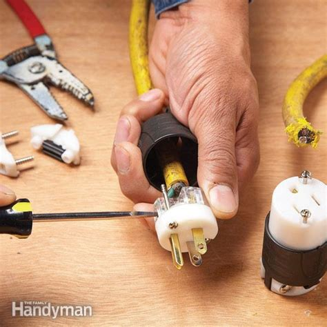 rewiring extension cord how to repair a cut extension cord the family handyman