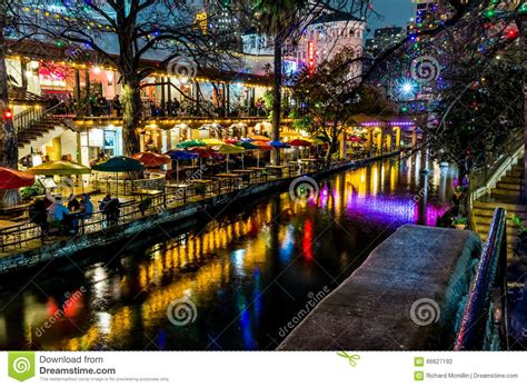 For Ten Days In San Antonio by The Riverwalk At San Antonio At Stock Photo
