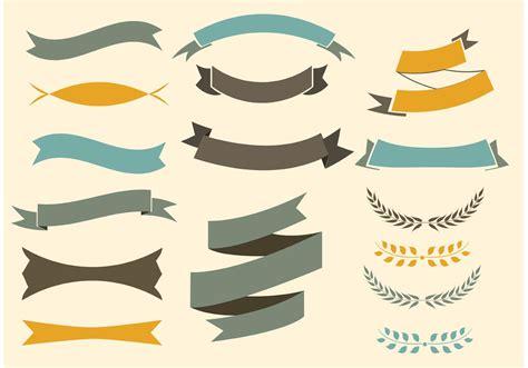 logo ribbon vector free free vector ribbons set free vector stock graphics images