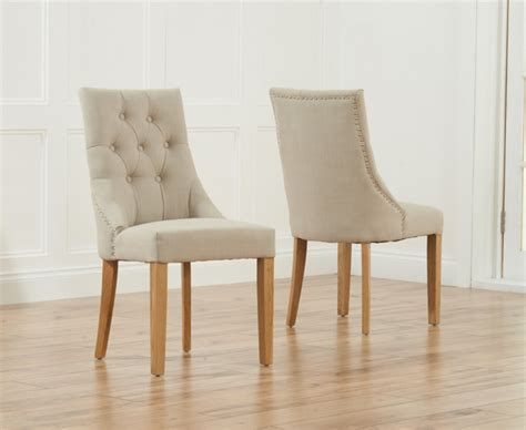 Dining Tables With Fabric Chairs Pacific Beige Fabric Oak Leg Dining Chairs Pair The Great Furniture Trading Company