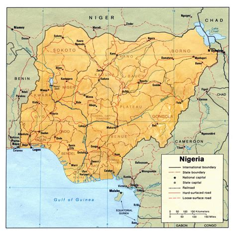 africa map nigeria nigeria political map