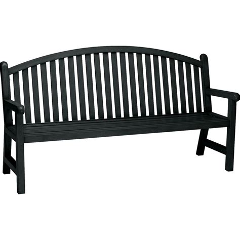 black bench tradewinds spring arbor 6 ft contract arch back textured
