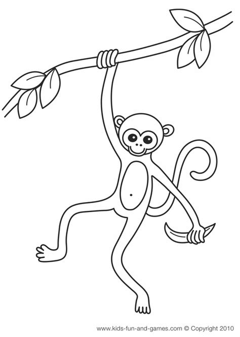 finger monkey coloring pages monkey coloring pages