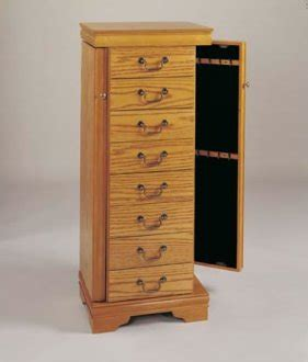 jewelry armoire oak finish oak finish jewelry armoire with swing out sides