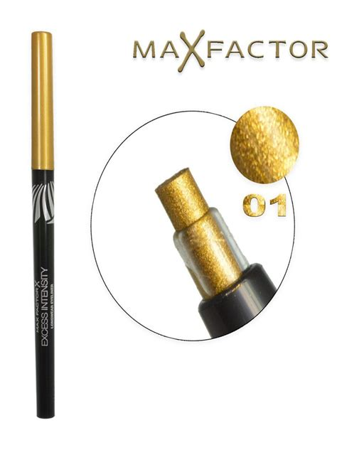 Eyeliner Pencil 1 5gr max factor excess intensity eyeliner 01 gold 2gr