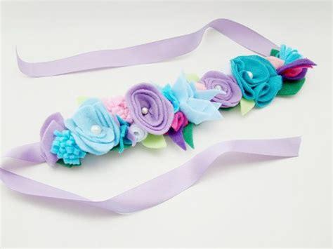 Baby Elsa Flower Blue elsa inspired crown felt flower blue by