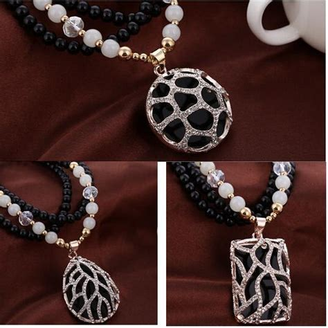 Kalung Korean Vintage Exquisite Color Matching Pendant Necklace 427 Korean Fashion All Match Upscale Buddha Chain