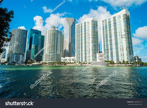 from biscayne bay to downtown miami a stunning home by downtown miami view along biscayne bay stock photo