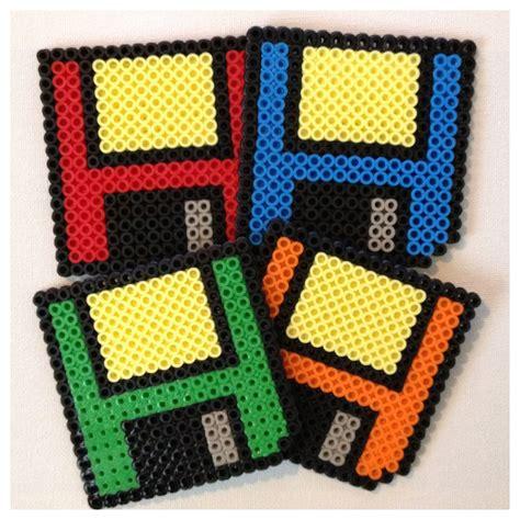 perler bead set floppy disk coasters set of 4 perler by k8bithero