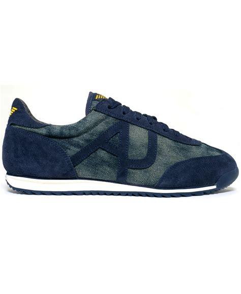 Sneakers Denim 1 armani denim sneakers in blue for lyst