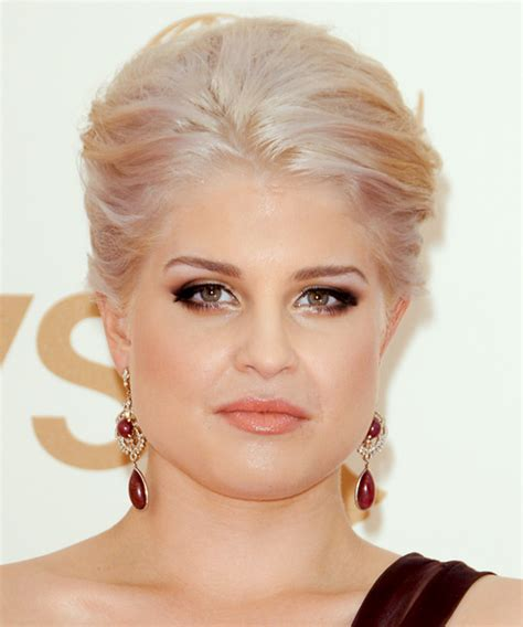 Kelly Osbourne Updo Long Straight Formal Updo Hairstyle