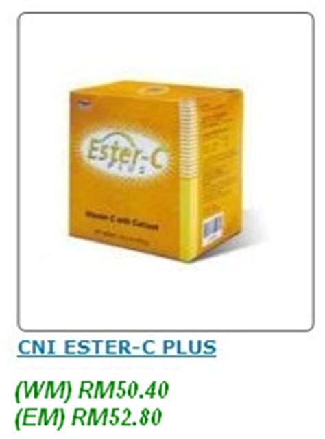 Cni Ester C Plus 16 Tablet healthy and wealthy cni produk