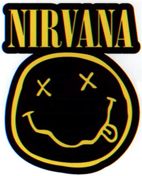 Rock Home Decor by Nirvana Diecut Smiley Logo Sticker