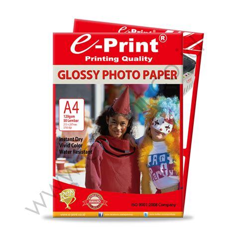 Kertas Foto Matte glossy photo paper a4 120gsm e print