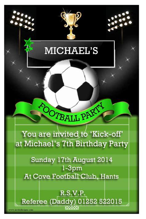 Football Party Invitations Football Invitation Template