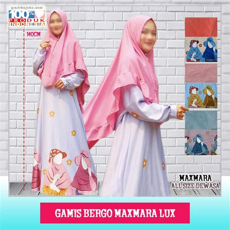Distributor Gamis Bergo Maxmara Lux Murah   GROSIR BAJU MURAH 5RIBU